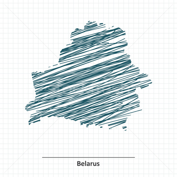 Doodle sketch of Belarus map Stock photo © ojal