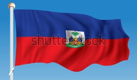 Bayrak Haiti dizayn arka plan seyahat siluet Stok fotoğraf © ojal
