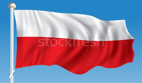 Bandiera Polonia texture abstract segno rosso Foto d'archivio © ojal