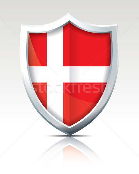 Shield with Flag of Denmark Stock photo © ojal