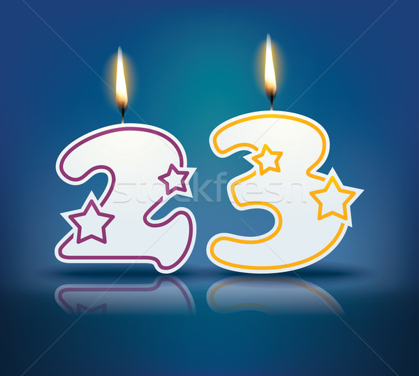 Birthday candle number 23 Stock photo © ojal