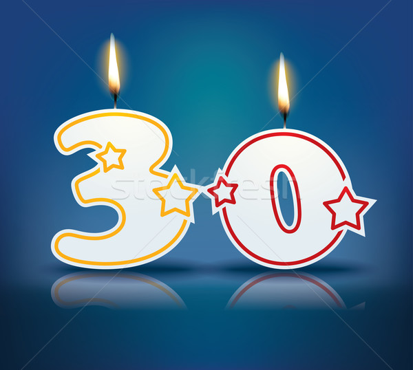 Birthday candle number 30 Stock photo © ojal