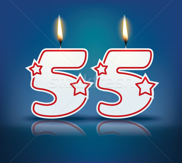 Birthday candle number 55 Stock photo © ojal