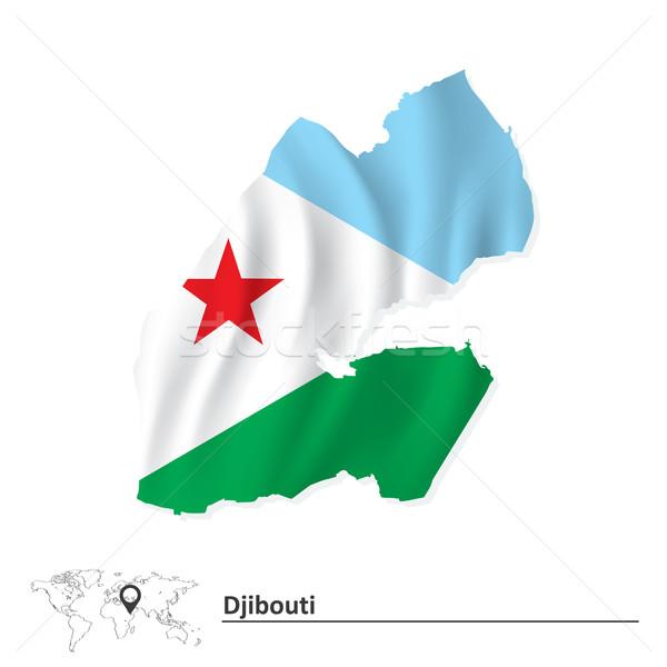 Pokaż Dżibuti banderą streszczenie sztuki biały Zdjęcia stock © ojal