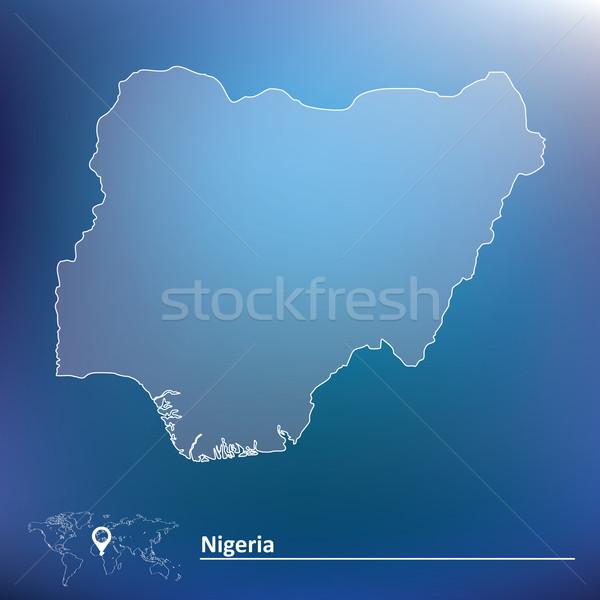 Mapa Nigéria textura projeto verde África Foto stock © ojal