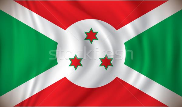 Foto stock: Bandeira · Burundi · projeto · mundo · fundo · assinar
