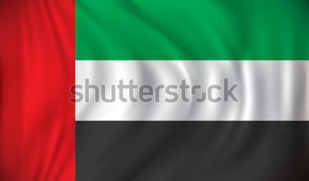 Bandeira Emirados Árabes Unidos textura fundo vento país Foto stock © ojal