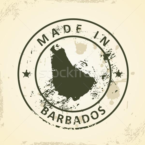 スタンプ 地図 バルバドス グランジ テクスチャ 芸術 ストックフォト © ojal