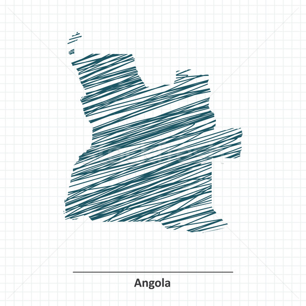 Doodle sketch of Angola map Stock photo © ojal