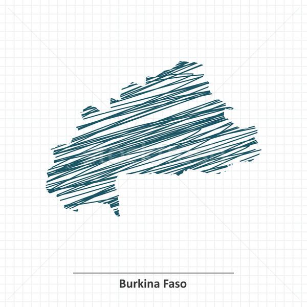 Doodle sketch of Burkina Faso map Stock photo © ojal