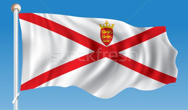 Bandiera mappa sfondo silhouette corona paese Foto d'archivio © ojal