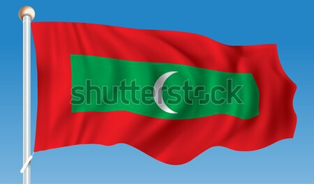 Flag of Maldives Stock photo © ojal