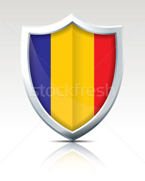 Shield with Flag of Chad Stock photo © ojal
