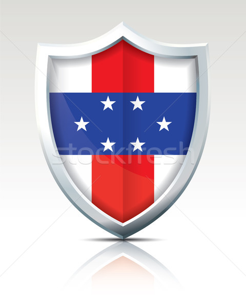 Shield with Flag of Netherlands Antilles Stock photo © ojal