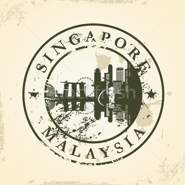 Сток-фото: Гранж · Сингапур · Малайзия · бизнеса · здании