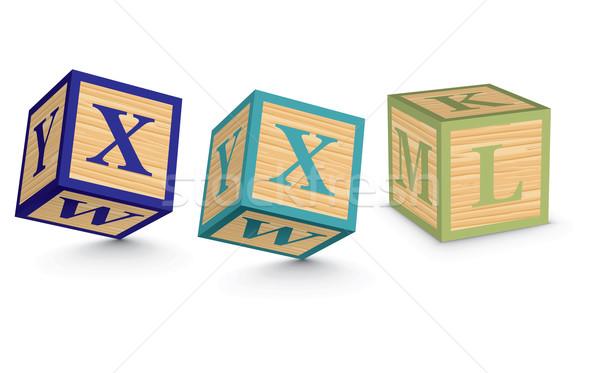Kelime xxl yazılı alfabe bloklar iş Stok fotoğraf © ojal