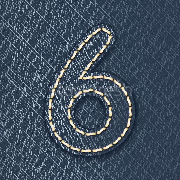 Сток-фото: числа · джинсов · ткань · письме · ткань · красивой