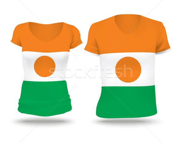 флаг рубашку дизайна Нигер женщину человека Сток-фото © ojal