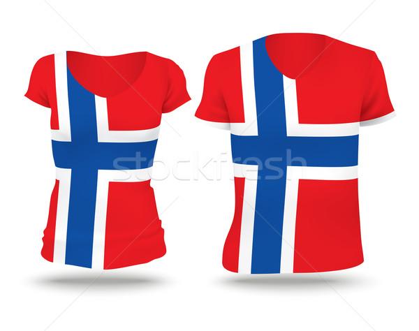 Flag shirt design of Svalbard Stock photo © ojal