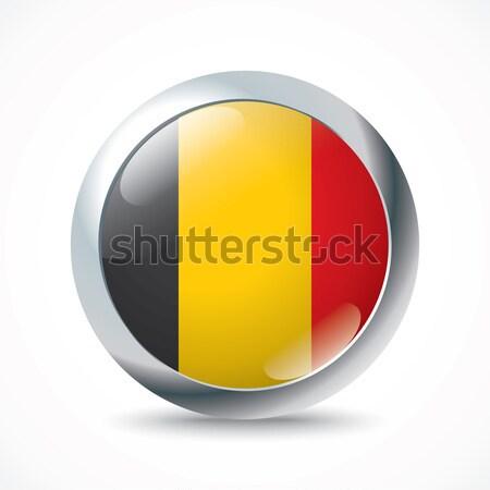 Belçika bayrak düğme dizayn arka plan toprak Stok fotoğraf © ojal