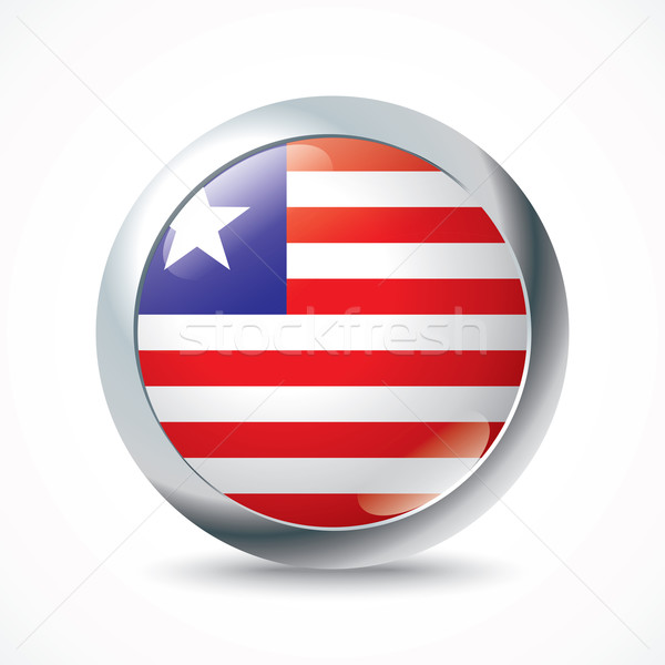 Liberia flag button Stock photo © ojal