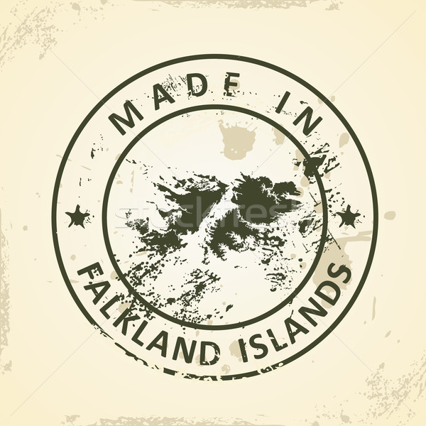 Stamp with map of Falkland Islands Stock photo © ojal