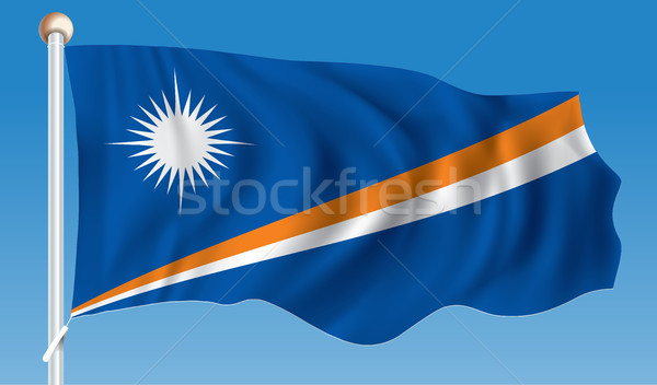 Vlag eilanden textuur kaart ontwerp reizen Stockfoto © ojal