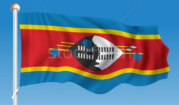 Pavillon Swaziland résumé feuille signe Voyage Photo stock © ojal