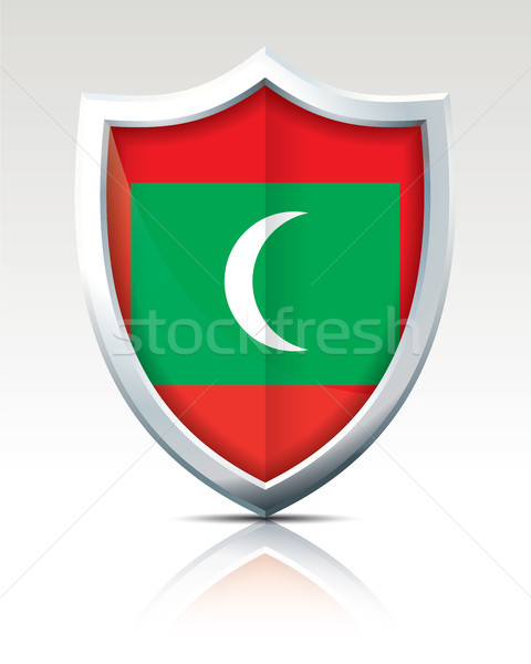 Shield with Flag of Maldives Stock photo © ojal