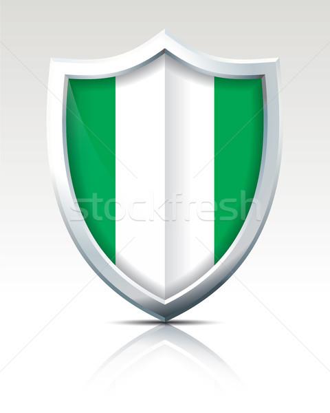 Escudo bandeira Nigéria textura verde África Foto stock © ojal