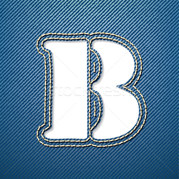 Denim jeans letter B Stock photo © ojal