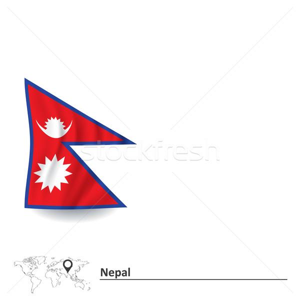 флаг Непал дизайна фон путешествия красный Сток-фото © ojal
