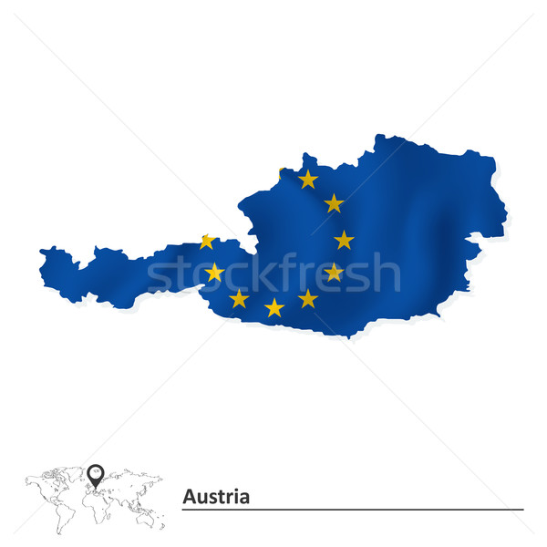 Map of Austria with European Union flag Stock photo © ojal