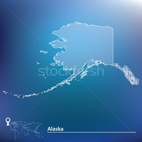Carte Alaska Voyage couleur liberté paix Photo stock © ojal