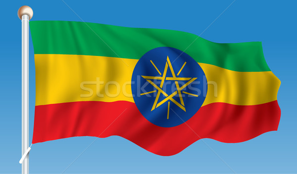 Flag of Ethiopia Stock photo © ojal