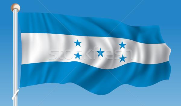 Bandiera Honduras mappa design blu nero Foto d'archivio © ojal
