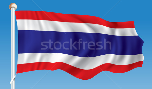 Bandeira Tailândia mapa abstrato projeto assinar Foto stock © ojal
