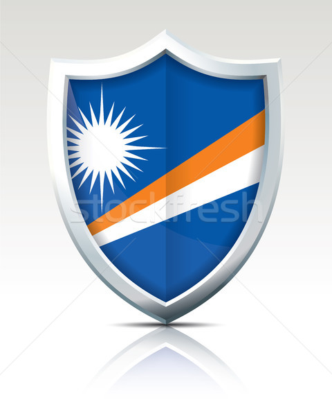 Shield with Flag of Marshall Islands Stock photo © ojal