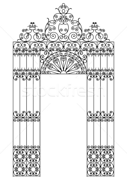 iron gate Stock photo © ojal