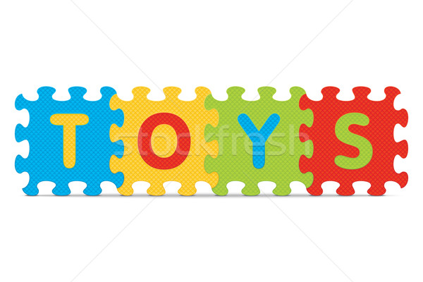 Vector 'TOYS' written with alphabet puzzle Stock photo © ojal