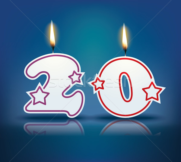 Birthday candle number 20 Stock photo © ojal