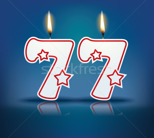 Birthday candle number 77 Stock photo © ojal