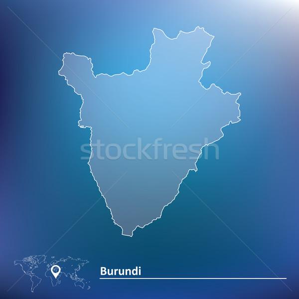 Mapa Burundi textura projeto assinar viajar Foto stock © ojal
