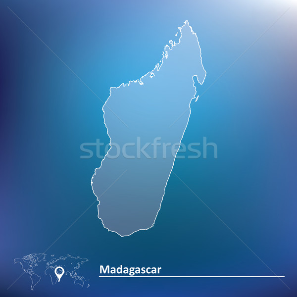 Map of Madagascar Stock photo © ojal