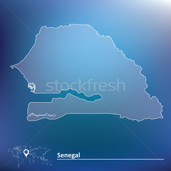 Kaart Senegal textuur star afrika wind Stockfoto © ojal