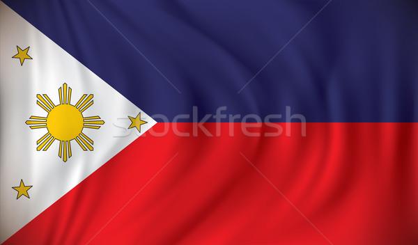 Bayrak Filipinler dünya arka plan seyahat rüzgâr Stok fotoğraf © ojal