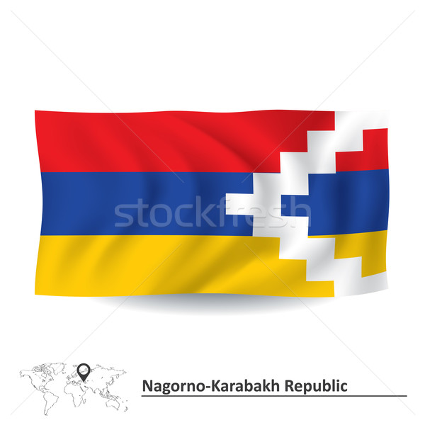 Flag of Nagorno-Karabakh Republic Stock photo © ojal