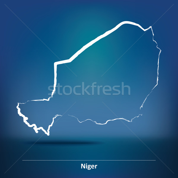 Doodle Map of Niger Stock photo © ojal