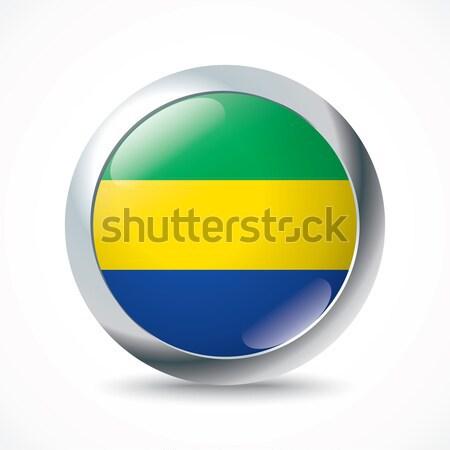 Габон флаг кнопки текстуры Мир фон Сток-фото © ojal