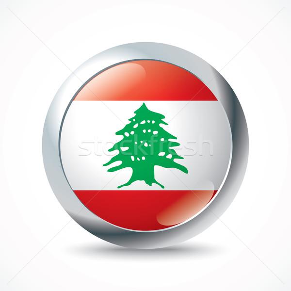 レバノン フラグ ボタン ツリー デザイン 世界 ストックフォト © ojal